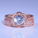 Cincin 1.20CT Center Round Lab Grown Diamond Ring