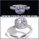 Cincin 2.5CT Center Fancy Cushion Cut Lab Grown Diamond